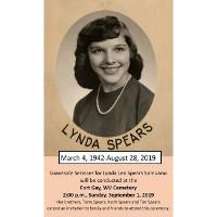 Lynda Lee Spears  March 04 1942  August 28 2019