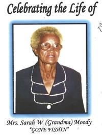 Sarah Jane Moody  1926  2019 (age 93)