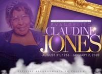 Evangelist Claudine Louise Jones  August 31 1936  January 2 2020